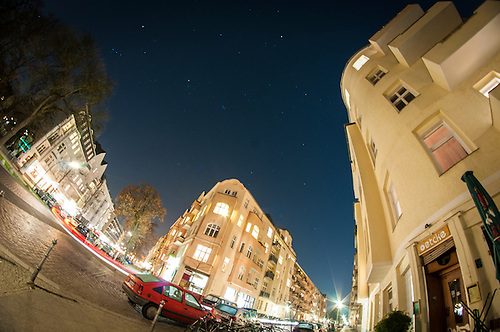 A part of Kreuzberg shot on a fisheye in January 20112