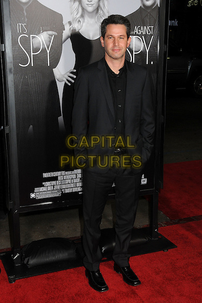 "Simon Kinberg.""This Means War"" Los Angeles Premiere held at Grauman's Chinese Theatre, Hollywood, California, USA..February 8th, 2012.full length black suit hands in pockets .CAP/ADM/BP.©Byron Purvis/AdMedia/Capital Pictures."