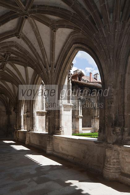 Europe/Europe/France/Midi-Pyrénées/46/Lot/Cahors:  Cloitre renaissance  de la Cathédrale Saint-Etienne et le Le Préau Céleste jardin qui fait partie des jardins secrets de Cahors