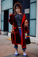 Hari Nef attends Day 2 of New York Fashion Week on Feb 13, 2015 (Photo by Hunter Abrams/Guest of a Guest)