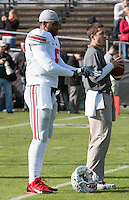 Ohio State quarterback Braxton Miller. The Ohio State Buckeyes defeated the Purdue Boilermakers 56-0 at Ross-Ade Stadium, West Lafayette, Indiana on November2, 2013.