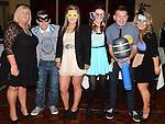 David Corr and his mam Amanda celebrating their 30th and 50th birthdays in the Westcourt hotel with Lauren Vaughey, Ciara O'Callaghan, Christina Vaughey and Jordan Harmon. Photo:Colin Bell/pressphotos.ie