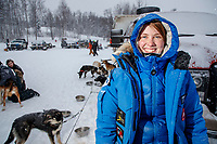 Christina Gibson portrait at the start of the 2018 Junior Iditarod Sled Dog Race on Knik Lake in Southcentral, Alaska.  Saturday February 24, 2018<br /> <br /> Photo by Jeff Schultz/SchultzPhoto.com  (C) 2018  ALL RIGHTS RESERVED