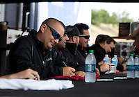 Jul. 27, 2013; Sonoma, CA, USA: NHRA top fuel dragster driver Brandon Bernstein during qualifying for the Sonoma Nationals at Sonoma Raceway. Mandatory Credit: Mark J. Rebilas-