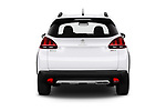 Straight rear view of 2019 Peugeot 2008 GT-Line 5 Door SUV Rear View  stock images