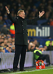 Ronald Koeman manager of Everton reacts during the English Premier League match at Goodison Park Stadium, Liverpool. Picture date: December 13th, 2016. Pic Simon Bellis/Sportimage