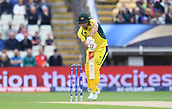 June 10th 2017, Edgbaston, Birmingham, England;  ICC Champions Trophy Cricket, England versus Australia; Aaron Finch of Australia drives the ball for 4