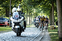 break away group riding a cobbed section<br /> <br /> Antwerp Port Epic 2020 <br /> One Day Race: Antwerp to Antwerp 183km; of which 28km are cobbles and 35km is gravel/off-road<br /> Bingoal Cycling Cup 2020
