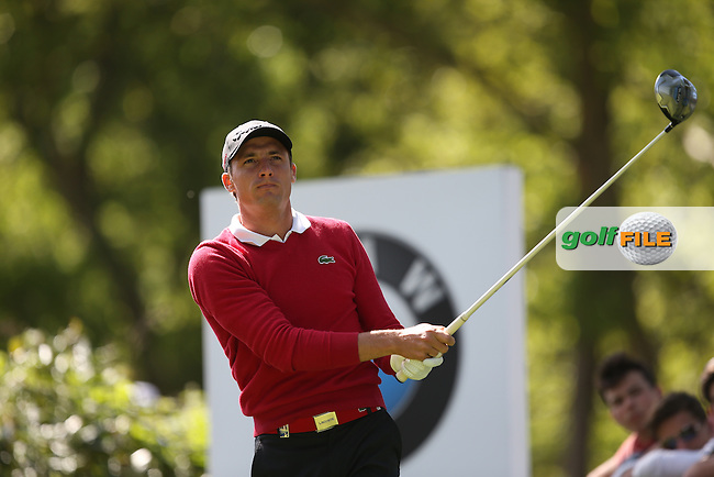 Benjamin Herbert (FRA) drives the 17th during Round One of the 2015 BMW PGA Championship over the West Course at Wentworth, Virginia Water, London. 21/05/2015Picture David Lloyd, www.golffile.ie.