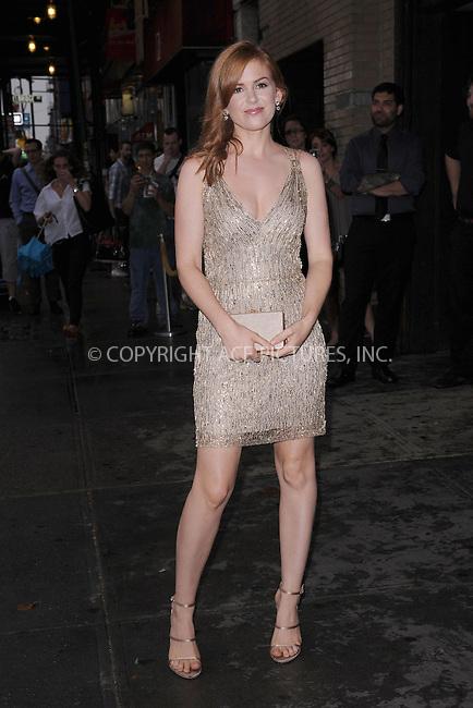 WWW.ACEPIXS.COM . . . . . .September 4, 2012...New York City....Isla Fisher  attends the 'Bachelorette' New York Premiere at Landmark's Sunshine Cinema on September 4, 2012 in New York City ....Please byline: KRISTIN CALLAHAN - ACEPIXS.COM.. . . . . . ..Ace Pictures, Inc: ..tel: (212) 243 8787 or (646) 769 0430..e-mail: info@acepixs.com..web: http://www.acepixs.com .