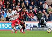 3rd December 2017, Vitality Stadium, Bournemouth, England; EPL Premier League football, Bournemouth versus Southampton; Southampton's Ryan Bertrand, Mario Lemina and Bournemouth's Jordon Ibe battle for a loose ball