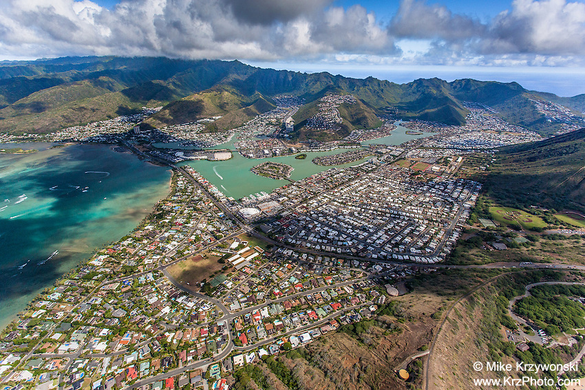 Aerial view of Hawaii Kai, Oahu