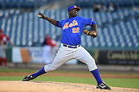 Demarcus Evans (22) of Petal High School in Petal, Mississippi playing for the New York Mets scout team during the East Coast Pro Showcase on July 31, 2014 at NBT Bank Stadium in Syracuse, New York.  (Mike Janes/Four Seam Images)