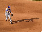 6 April 2015: New York Mets infielder Wilmer Flores in action during the Season Opening Game against the Washington Nationals at Nationals Park in Washington, DC. The Mets rallied to defeat the Nationals 3-1 in their first meeting of the 2015 MLB season. Mandatory Credit: Ed Wolfstein Photo *** RAW (NEF) Image File Available ***