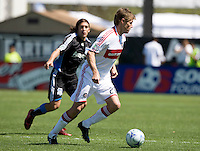 April 11, 2009:  Brian McBride of Fire in action against Earthquakes at Buck Shaw Stadium in Santa Clara, California. San Jose Earthquakes and Chicago Fire tied, 3-3