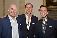 New York City, NY - MAY 23: (L-R) John Strong, Lead GC Play-by_Play Announcer, Alexi Lalas, Studio Analyst and Stu Holden, Lead GC Match Analyst attend the Fox Sports FIFA Women's World Cup Send-off at the Consulate General of France in New York City. (Photo by Anthony Behar/Fox Sports/PictureGroup)