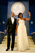 Washington, DC - January 20, 2009 -- United States President Barack Obama and First Lady Michelle Obama attend the Biden Home States Ball at the Washington Convention Center on January 20, 2009 in Washington, DC. Obama became the first African-American to be elected to the office of President in the history of the United States.  .Credit: Chip Somodevilla - Pool via CNP