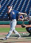 Damonte Ranch's Nate Nolan swings during the inaugural high school home run derby at Aces Ballpark after the Reno Aces vs. Fresno Grizzlies game played on Sunday afternoon, April 28, 2013 in Reno, Nevada.
