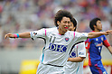 Yohei Toyoda (Sagan),.MAY 20, 2012 - Football / Soccer :.Yohei Toyoda of Sagan Tosu celebrates after scoring his team's second goal during the 2012 J.League Division 1 match between F.C.Tokyo 3-2 Sagan Tosu at Ajinomoto Stadium in Tokyo, Japan. (Photo by Hitoshi Mochizuki/AFLO)