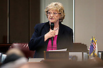 Nevada Sen. Joyce Woodhouse, D-Henderson, speaks on the Senate floor at the Legislative Building in Carson City, Nev., on Tuesday, April 21, 2015. <br /> Photo by Cathleen Allison
