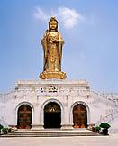 CHINA, Putou Shan, people tour Quanyin Temple at Putou Shan island
