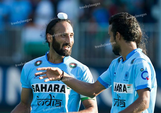 01/07/2015<br /> HWL Semi Final Antwerp Belgium 2015<br /> India v Malaysia Men<br /> Sardar Singh (C)  <br /> Photo: Grant Treeby