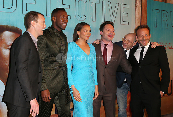 LOS ANGELES, CA - JANUARY 10: Casey Bloys, Mahershala Ali, Carmen Ejogo, Nic Pizzolatto, Stephen Dorff, Daniel Sackheim, at the Los Angeles Premiere of HBO's True Detective Season 3 at the Directors Guild Of America in Los Angeles, California on January 10, 2019. Credit: Faye Sadou/MediaPunch