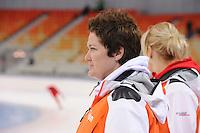 SPEEDSKATING: SOCHI: Adler Arena, 19-03-2013, Training, Desly Hill (assistent trainer Team LIGA), © Martin de Jong