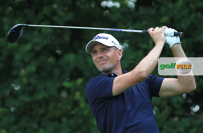 Robert Dinwiddie (ENG) on the 3rd tee during the Round 2 of the 2016 BMW International Open at the Golf Club Gut Laerchenhof in Pulheim, Germany on Friday 24/06/16.<br /> Picture: Golffile | Thos Caffrey