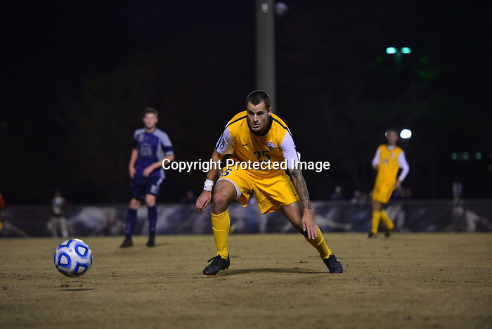 NORFOLK, Va. &ndash; The Drexel men's soccer team saw its season come to an end on Thursday night in the first round of the NCAA Tournament as it fell at Old Dominion, 5-1. Drexel saw the Monarchs take a lead in the fourth minute of the game and add two more scores before the game was 17 minutes old. Jared Girard scored for the Dragons, his third goal of the season.<br /> <br /> The Dragons end their season 9-8-4 after winning the regular season and tournament championships in the Colonial Athletic Association and earning their second-straight NCAA Tournament bid. Old Dominion (11-5-1) will move on to face No. 6 seed Georgetown on Sunday afternoon.<br /> <br /> Tim Hopkinson, the Conference-USA leader in points per game, scored twice in the first 15 minutes to put Old Dominion out in front. Jesse Miralrio added a goal and an assist. Girard scored the Dragons' goal midway through the second half off a set piece feed from Guido Pena. Despite the loss, Girard etched his name in the Drexel men's soccer record books with that score, the first by a Dragon in NCAA Tournament play since the first round of the 1963 tournament.<br /> <br /> Old Dominion got on the board just under four minutes into the contest. Jesse Miralrio broke free in the box, charging up to the right of Drexel goalkeeper Tyler Afflerbach. His shot rocketed past Afflerbach, but hit off the crossbar and straight down without breaking the plane of the goal mouth. With the Dragons trying to pick up the loose ends on the broken play, Old Dominion's leading goal scorer, Tim Hopkinson, got behind Afflerbach and headed it home for the game's first goal.<br /> <br /> Twelve minutes later, Hopkinson and the Monarchs struck again. Taking a feed from Ivan Militar up the middle, a streaking Hopkinson roped a shot past Afflerbach to give the Monarchs a two-goal cushion. That was followed just under one minute later when the Monarchs intercepted a Drexel clear up the left side.