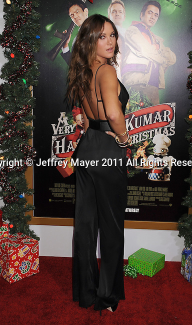 """HOLLYWOOD, CA - NOVEMBER 02: Danneel Harris arrives at the """"A Very Harold & Kumar 3D Christmas"""" Los Angeles Premiere at Grauman's Chinese Theatre on November 2, 2011 in Hollywood, California."""