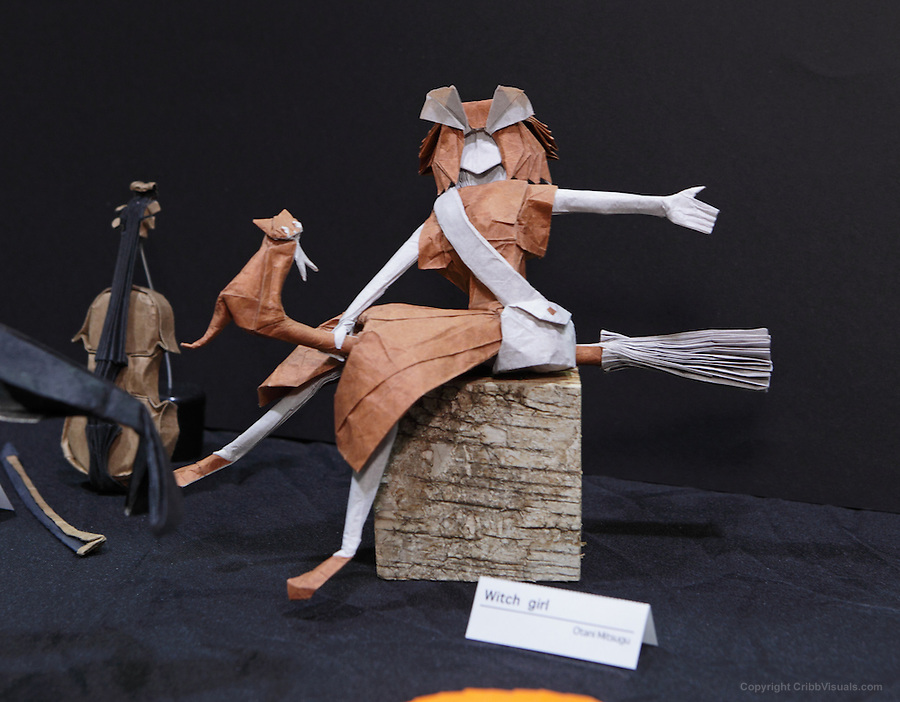 Origami Witch Girl Designed By Otani Mitsugu At The OrigamiUSA 2014 Exhibition