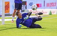 Torwart Florian Stritzel (SV Darmstadt 98) - 04.08.2019: SV Darmstadt 98 vs. Holstein Kiel, Stadion am Boellenfalltor, 2. Spieltag 2. Bundesliga<br /> DISCLAIMER: <br /> DFL regulations prohibit any use of photographs as image sequences and/or quasi-video.