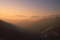 France/09/Ariège/Environ de Seix: Col de la Core au soleil levant