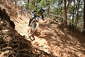7th September 2017, Smithfield Forest, Cairns, Australia; UCI Mountain Bike World Championships; Vaea Verbeeck (CAN) during downhill practice