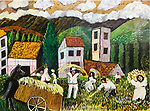 Harvest in the Basque Country<br /> 18x24 Acrylic on Canvas Original Painting<br /> $8,900