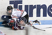 Tiffany Good (UConn - 93), Brittany Esposito (NU - 7) - The University of Connecticut Huskies defeated the Northeastern University Huskies 4-1 in Hockey East quarterfinal play on Saturday, February 27, 2010, at Matthews Arena in Boston, Massachusetts.