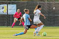 Piscataway, NJ - Saturday June 11, 2016: Erika Tymrak, Kristin Grubka during a regular season National Women's Soccer League (NWSL) match between Sky Blue FC and FC Kansas City at Yurcak Field.