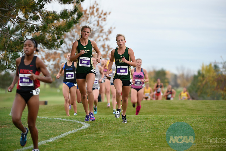 28 OCT 2016: The 2016 Mountain West Women's Cross Country Championship takes place at Falcon Crest Golf Club in Kuna, ID. Justin Tafoya/NCAA Photos