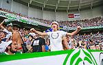 Stockholm 2014-07-28 Fotboll Superettan Hammarby IF - Assyriska FF :  <br /> Hammarbys supportrar sjunger<br /> (Foto: Kenta J&ouml;nsson) Nyckelord:  Superettan Tele2 Arena Hammarby HIF Bajen Assyriska AFF supporter fans publik supporters