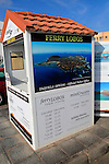 Ticket booth for boat trips to Lobos island at Corralejo, Fuerteventura, Canary Islands, Spain