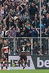 22.07.2017, Millerntor-Stadion, Hamburg, GER, FSP, FC St. Pauli vs SV Werder Bremen<br /> <br /> im Bild<br /> Aziz Bouhaddouz (St. Pauli #9) bejubelt seinen Treffer zum 2:1 vor Fans, <br /> <br /> Foto &copy; nordphoto / Ewert