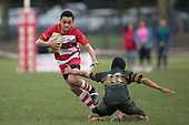 Counties Manukau Junior Rugby Under 13 Restricted final between Karaka Red and Pukekohe, played at the Karaka Sports Park on Saturday September 2nd 2017. Karaka Red are this years Champions after winning 46 - 14.<br /> Photo by Richard Spranger.