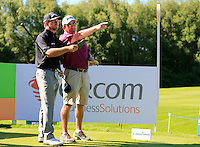 Graham McDowell (NIR) and caddy Ken Comboy during Wednesday's Pro-Am of the 2014 Irish Open held at Fota Island Resort, Cork, Ireland. 18th June 2014.<br /> Picture: Eoin Clarke www.golffile.ie