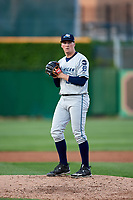 West Michigan Whitecaps starting pitcher Kyle Funkhouser (22) gets ready to deliver a pitch during a game against the Peoria Chiefs on May 8, 2017 at Dozer Park in Peoria, Illinois.  West Michigan defeated Peoria 7-2.  (Mike Janes/Four Seam Images)