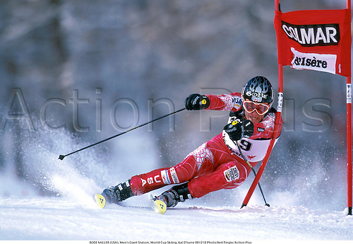 BODE MILLER (USA), Men's Giant Slalom, World Cup Skiing, Val D'Isere 001210 Photo:Neil Tingle/Action Plus...2000.winter sport.winter sports.wintersport.wintersports.alpine.ski.skier.man