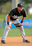 13 March 2008: Florida Marlins' infielder Tagg Bozied warms up prior to a Spring Training game against the Washington Nationals at Space Coast Stadium, in Viera, Florida. The Marlins defeated the Nationals 2-1 in the Grapefruit League matchup...Mandatory Photo Credit: Ed Wolfstein Photo