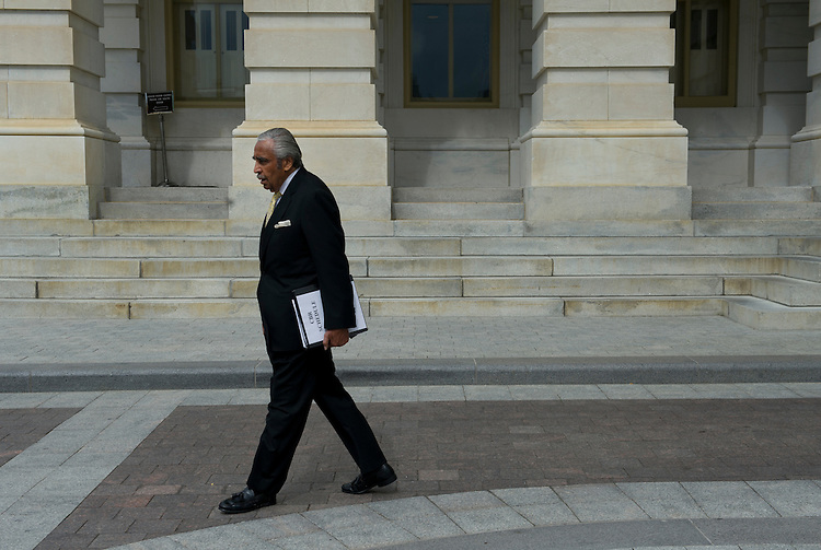 UNITED STATES - May 23 :  Rep. Charles Rangel, D-NY., walks to a waiting car on the East Front of the U. S. Capitol on May 23, 2013.  (Photo By Douglas Graham/CQ Roll Call)