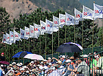 03 August 2008:   One of the grandstands at the 2008 US Senior Open Championship at The Broadmoor, Colorado Springs, CO.