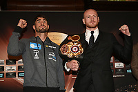 Jamie Cox (L) and George Groves during a Press Conference at the Landmark Hotel on 11th October 2017